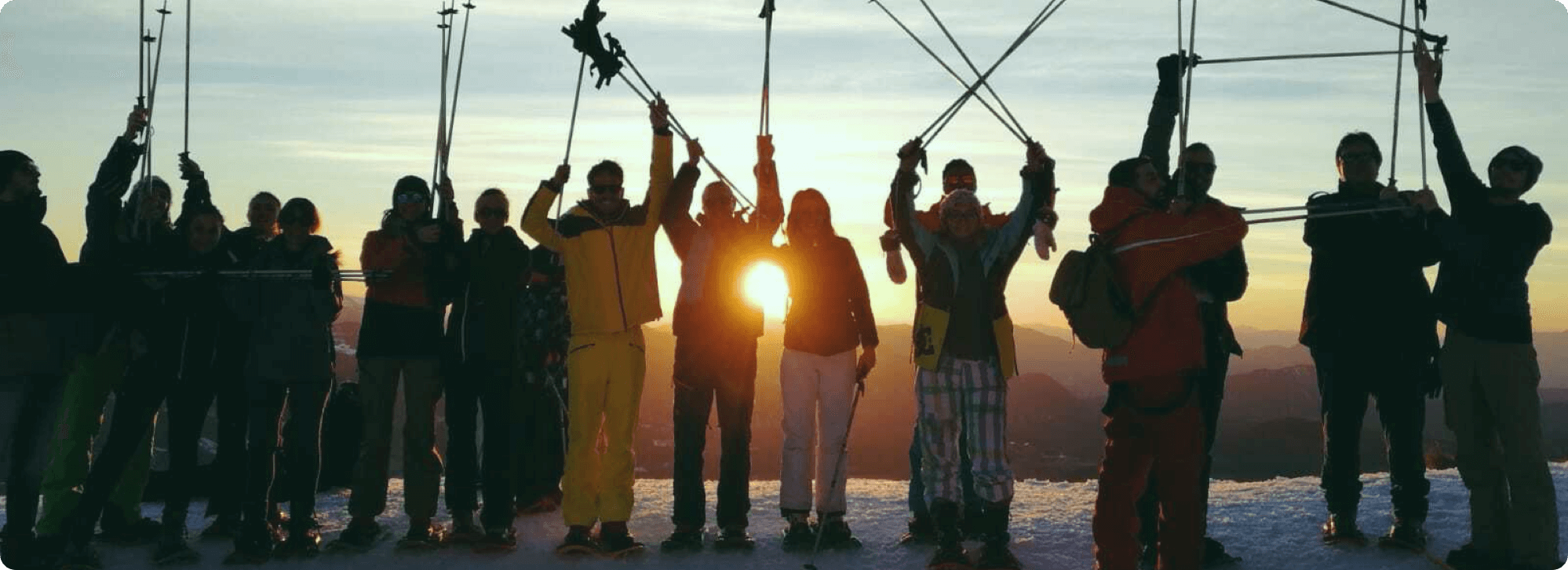 Les collaborateurs Linxo au ski